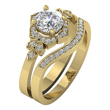 Load image into Gallery viewer, Natural Diamond 14k Yellow Gold Designer Ring-DCR124