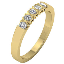 Load image into Gallery viewer, 14k Yellow Gold Natural Round Cut Diamond Ring-DFR29