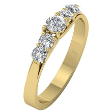 Load image into Gallery viewer, Yellow Gold Diamond Ring-DFR40