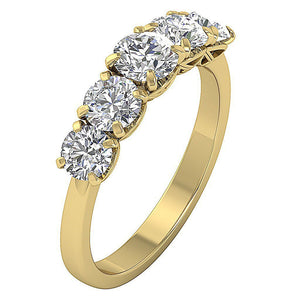 14k Yellow Gold Natural Diamond Ring-DFR55
