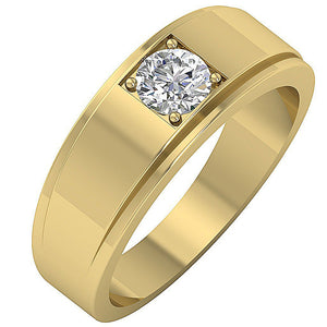 Cross View Yellow Gold Ring-DMR3