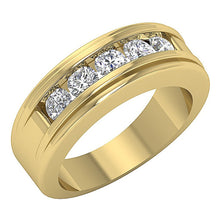 Load image into Gallery viewer, Natural Diamond 14k Yellow Gold Ring-DMR5