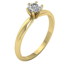 Load image into Gallery viewer, 14K Yellow Gold Solitaire Natural Diamond Designer Wedding Ring SI1 G 0.50 Ct Six Prong Set 5.10MM