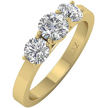 Load image into Gallery viewer, Genuine Diamond 14k Solid Gold Prong Set Ring-DTR101-TR-105-3