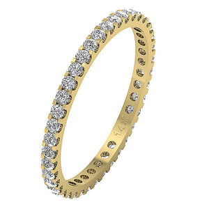 Stackable Anniversary Eternity Ring I1 G 0.70 ct Natural Diamond 14k Rose Gold