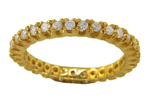 Stackable Yellow Gold Genuine Diamond Ring-ETR-184