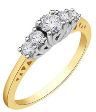Load image into Gallery viewer, Prong Setting 14k Yellow Gold Ring-FR59
