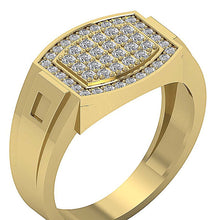 Load image into Gallery viewer, Mens Anniversary Ring 14k Solid Gold SI1/I1 G 0.80Ct Round Diamond Prong Set Width 12.60MM