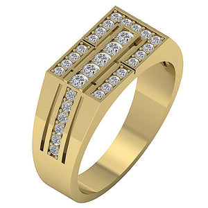 Mens Wedding Ring VVS1/VS1 E 0.80Ct 14k Solid Gold Natural Diamonds Channel Set Width 8.00MM