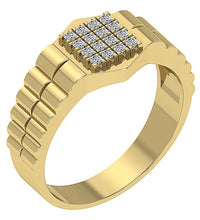 Load image into Gallery viewer, Mens Wedding Ring SI1/I1 G 0.30Ct Round Diamond 14k Solid Gold Prong Set Width 10.80MM