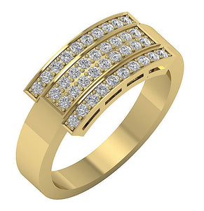 Diamond Ring Yellow Gold-MR-43