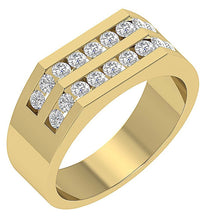 Load image into Gallery viewer, 14k Yellow Gold Round Cut Diamond Ring-MR-98