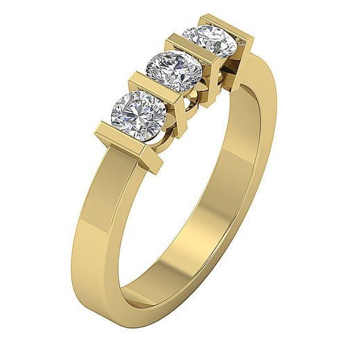 Genuine Diamond Ring 14k Solid Gold-TR-64-3