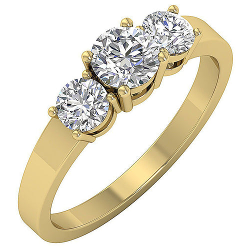 Natural Diamond Wedding Ring 14k Solid Gold-TR-86-4
