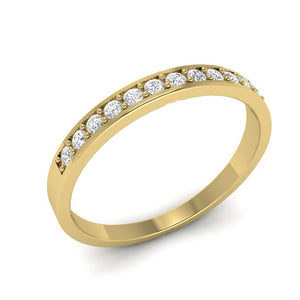 14k Yellow Gold Diamond Ring-WR-2A