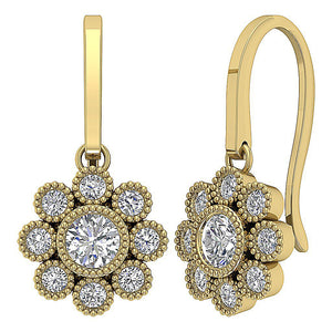 Hook Style Halo Fashion Earrings-DE108