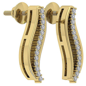 14k Prong Setting Earrings-DE179