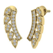 Load image into Gallery viewer, 14k Yellow Gold Round Cut Diamond Earring-DE207