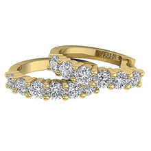 Load image into Gallery viewer, Large Hoops Earrings Natural Diamonds 14k White Yellow Rose Gold I1 G 0.90 Ct