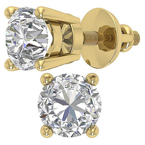 14k Gold Studs Earring Anniversary's gift-DST45-2.50-5