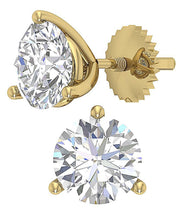 Load image into Gallery viewer, Solitaire Studs Earring 14k Solid Gold-E-435-2.10-4