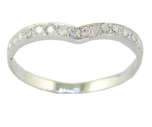 Designer Wedding 14k White Gold Ring