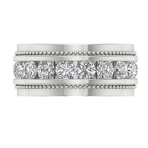 14k White Gold Anniversary Ring-MR-89-2.00Ct