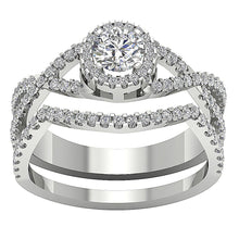 Load image into Gallery viewer, 14k White Gold Prong Set Anniversary Ring Natural Diamond-DCR133