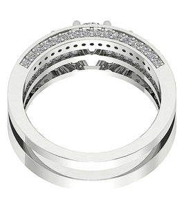 14k White Gold Designer Bridal Ring Set