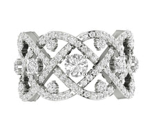 Load image into Gallery viewer, Designer Anniversary Eternity Ring SI1 G 3.85carat Natural Diamond 14k Gold