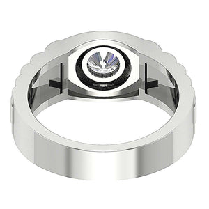 Bezel Set Diamonds Solitaire Ring-MR-55