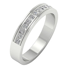 Load image into Gallery viewer, Channel Set Natural Diamond Ring 14k White Gold
