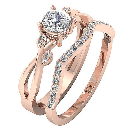 Designer Natural Diamond Wedding Ring Prong Set