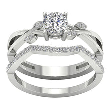 Load image into Gallery viewer, 14k White Gold Natural Diamond Ring-DCR142