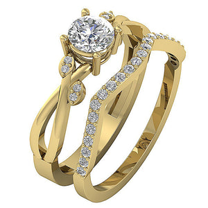 14k Yellow Gold Couple Designer Wedding Ring-DCR142