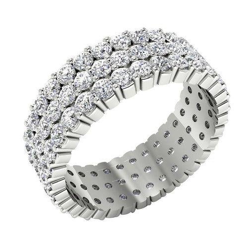 Designer Eternity Ring 14k White Gold