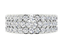 Load image into Gallery viewer, Designer Anniversary Eternity Ring Natural Diamond I1 G 3.50 ct 14k Yellow Gold