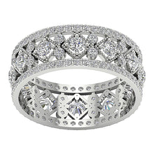 Load image into Gallery viewer, Designer Eternity 14k White Gold Ring