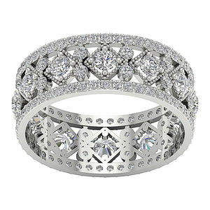 Designer Eternity 14k White Gold Ring
