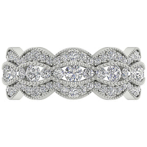 Designer Anniversary Eternity Ring I1 G 3.00ct Real Diamond 14k Solid Gold Prong Channel Set