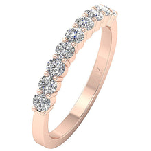 Load image into Gallery viewer, 14k White Yellow Rose Gold Wedding Ring VS1 E 1.01 Carat Natural Round Diamond Prong Set 3.10MM