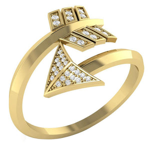 14k Yellow Gold Natural Diamond Ring+