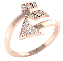 Load image into Gallery viewer, 14k Rose Gold Natural Diamond Band
