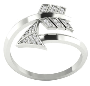 Designer Anniversary 14k White Gold Ring