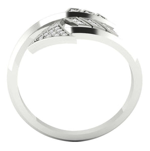 Diamond White Gold Ring Front View