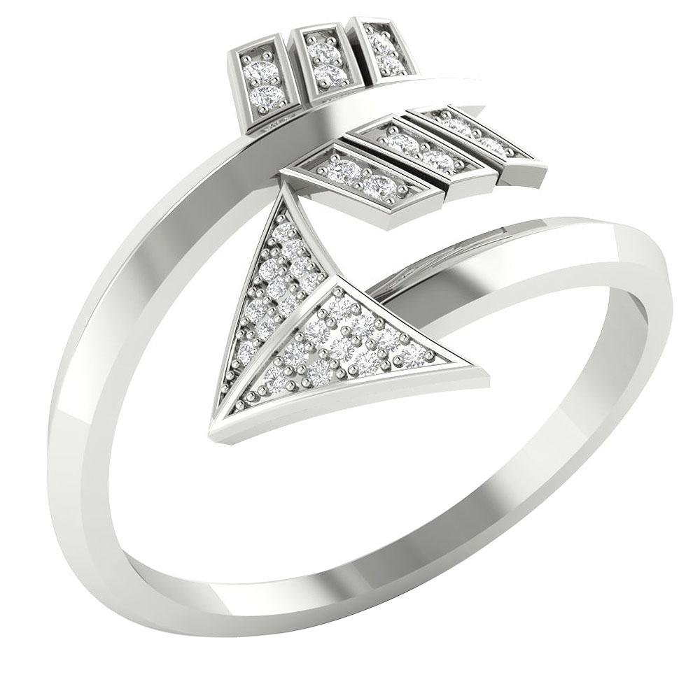 Designer Wedding Ring 14k White Gold+