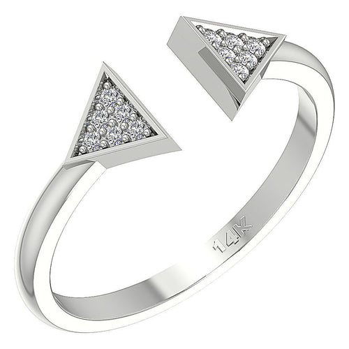 Designer Unique Ring 14k White Gold
