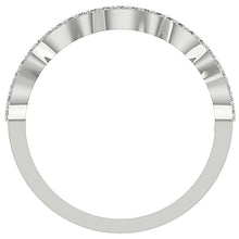 Load image into Gallery viewer, Diamond White Gold Ring Front View