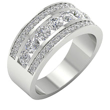 Load image into Gallery viewer, Designer Wedding Ring Natural Diamond SI1 G 2.25 Ct Prong & Channel Set 14K White Gold