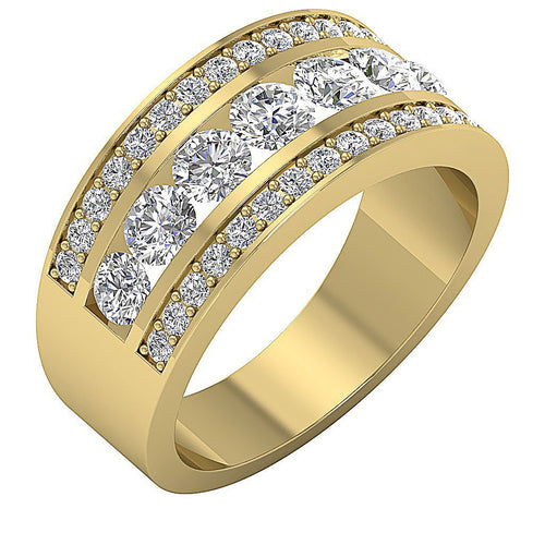14k Yellow Gold Natural Diamond Ring